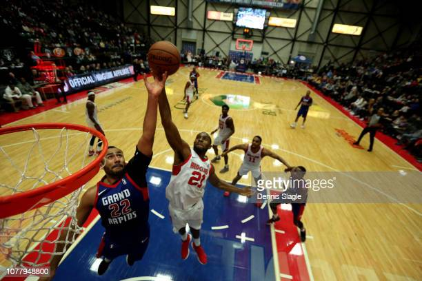 Vitto Brown of the Maine Red Claws takes a shot against the Grand Rapids Drive at The DeltaPlex Arena for the NBA GLeague on January 05 2019 in Grand...