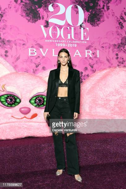 Vittoria Ceretti at the Vogue Japan 20th Anniversary Party on September 18 2019 in Milan Italy