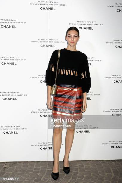 Vittoria Ceretti attends the launch of Lucia Pica's Chanel SpringSummer 2018 Make up Collection on October 12 2017 in Naples Italy