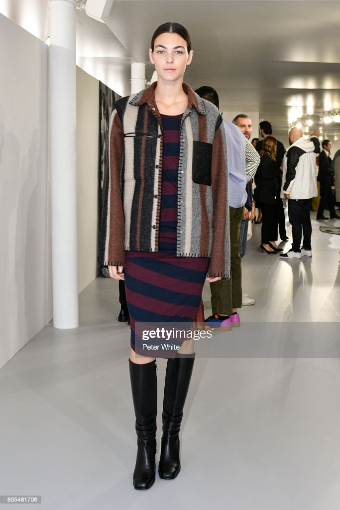 Vittoria Ceretti attends the Loewe show as part of the Paris Fashion Week Womenswear Spring/Summer 2018 on September 29, 2017 in Paris, France.
