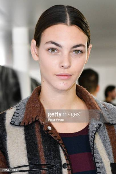 Vittoria Ceretti attends the Loewe show as part of the Paris Fashion Week Womenswear Spring/Summer 2018 on September 29 2017 in Paris France