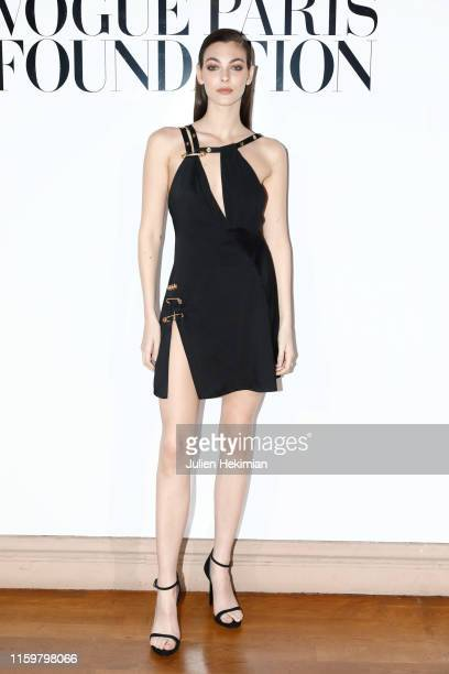 Vittoria Ceretti attends the Vogue diner as part of Paris Fashion Week Haute Couture Fall Winter 2020 at Le Trianon on July 02 2019 in Paris France