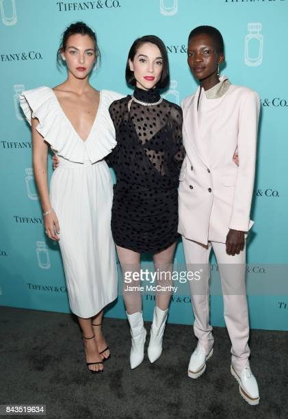 Vittoria Ceretti St Vincent and Achok Majak attend the Tiffany Co Fragrance launch event on September 6 2017 in New York City