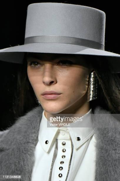 Vittoria Ceretti walks the runway at the Alberta Ferretti Ready to Wear Fall/Winter 20192020 fashion show during Milan Fashion Week Autumn/Winter...