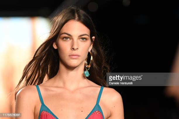 Vittoria Ceretti walks the runway at the Alberta Ferretti show during the Milan Fashion Week Spring/Summer 2020 on September 18 2019 in Milan Italy