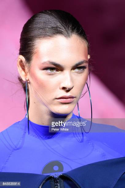 Vittoria Ceretti walks the runway at the Fenty Puma By Rihanna fashion show during New York fashion week at Park Avenue Armory on September 10 2017...