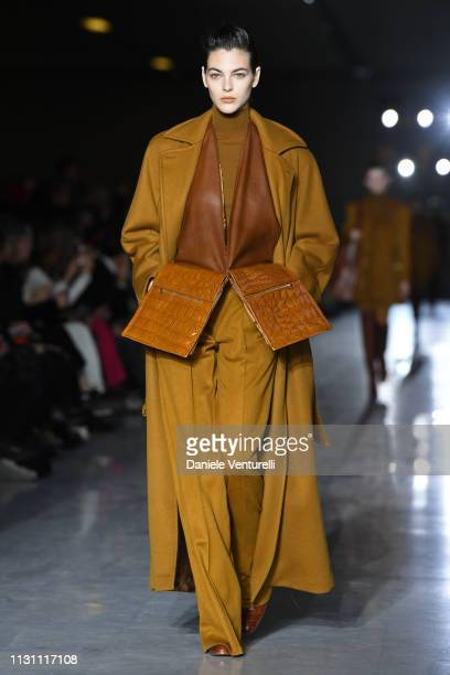 Vittoria Ceretti walks the runway at the Max Mara show at Milan Fashion Week Autumn/Winter 2019/20 on February 21 2019 in Milan Italy