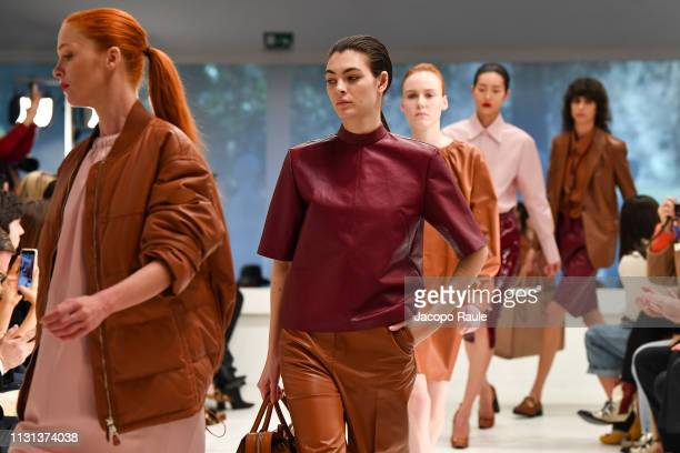 Vittoria Ceretti walks the runway at the Tod's show at Milan Fashion Week Autumn/Winter 2019/20 on February 22, 2019 in Milan, Italy.