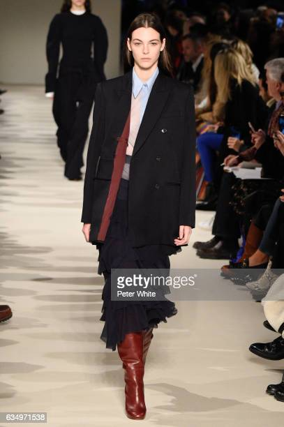 Vittoria Ceretti walks the runway at Victoria Beckham show during New York Fashion Week on February 12 2017 in New York City