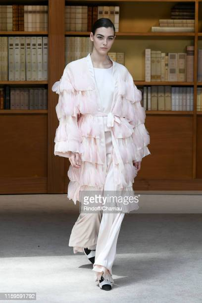 Vittoria Ceretti walks the runway during the Chanel Haute Couture Fall/Winter 2019 2020 show as part of Paris Fashion Week on July 02 2019 in Paris...