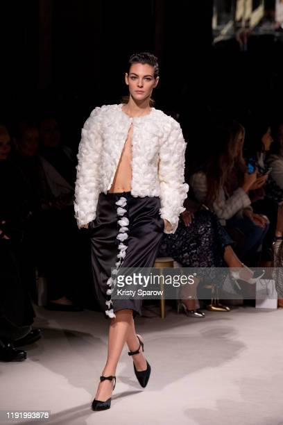 Vittoria Ceretti walks the runway during the Chanel Metiers d'Art 20192020 show at Le Grand Palais on December 04 2019 in Paris France