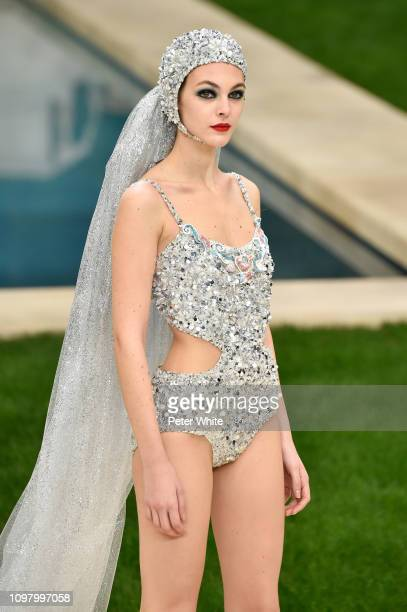 Vittoria Ceretti walks the runway during the Chanel Spring Summer 2019 show as part of Paris Fashion Week on January 22 2019 in Paris France