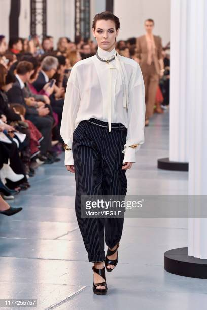 Vittoria Ceretti walks the runway during the Chloe Ready to Wear Spring/Summer 2020 fashion show as part of Paris Fashion Week on September 26 2019...