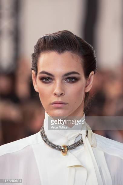 Vittoria Ceretti walks the runway during the Chloe Womenswear Spring/Summer 2020 show as part of Paris Fashion Week on September 26, 2019 in Paris,...