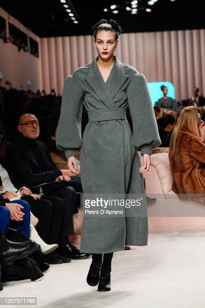 Vittoria Ceretti walks the runway during the Fendi fashion show as part of Milan Fashion Week Fall/Winter 2020-2021 on February 20, 2020 in Milan,...