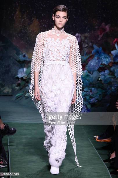 Vittoria Ceretti walks the runway during the Fendi Haute Couture Fall/Winter 20172018 show as part of Haute Couture Paris Fashion Week on July 5 2017...