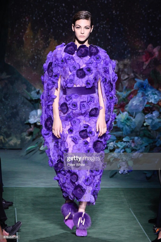 Vittoria Ceretti walks the runway during the Fendi Haute Couture Fall/Winter 2017-2018 show as part of Haute Couture Paris Fashion Week on July 5, 2017 in Paris, France.