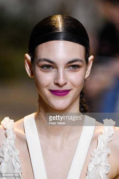 Vittoria Ceretti walks the runway during the HM Studio show as part of the Paris Fashion Week>> on March 1 2017 in Paris France