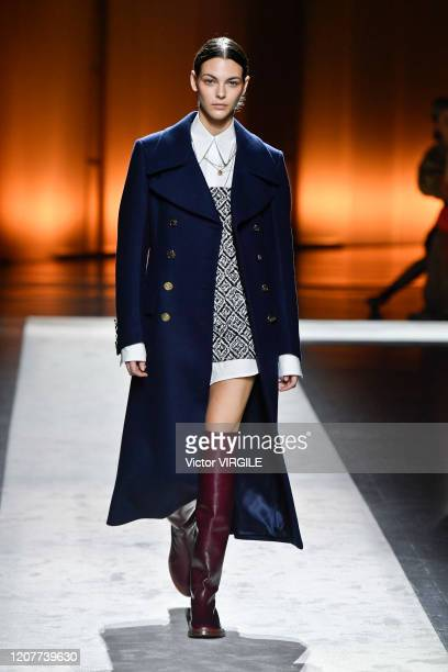 Vittoria Ceretti walks the runway during the Tod's Ready to Wear Fall/Winter 2020-2021 fashion show as part of Milan Fashion Week on February 21,...
