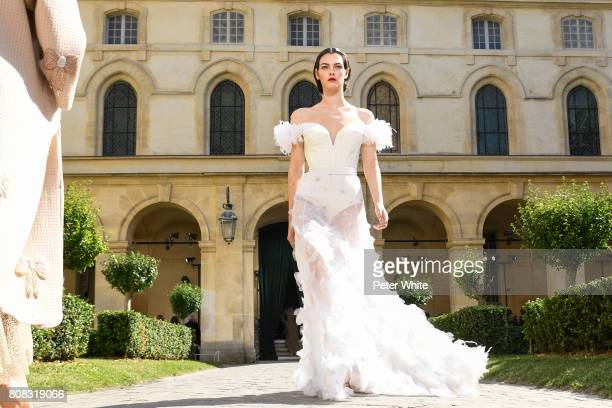 Vittoria Ceretti walks the runway during the Ulyana Sergeenko Haute Couture Fall/Winter 20172018 show as part of Haute Couture Paris Fashion Week on...