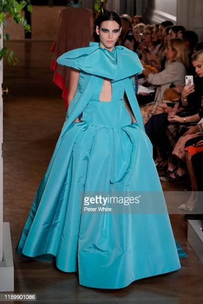 Vittoria Ceretti walks the runway during the Valentino Fall/Winter 2019 2020 show as part of Paris Fashion Week on July 03 2019 in Paris France