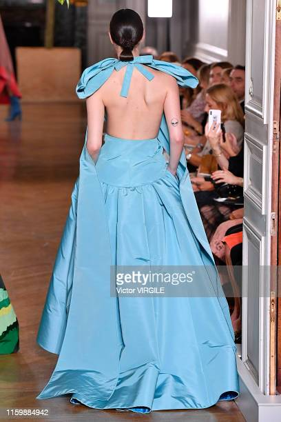 Vittoria Ceretti walks the runway during the Valentino Haute Couture Fall/Winter 2019 2020 show as part of Paris Fashion Week on July 03, 2019 in...