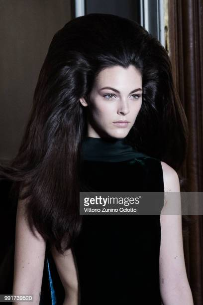 Vittoria Ceretti walks the runway during the Valentino Haute Couture Fall Winter 2018/2019 show as part of Paris Fashion Week on July 4 2018 in Paris...