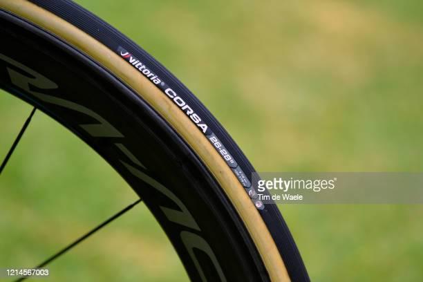 Vittoria Corsa Tire / DuraAce Wheel / George Bennett of New Zealand and Team JumboVisma / Bianchi Bike / Detail view / during the 22nd Santos Tour...