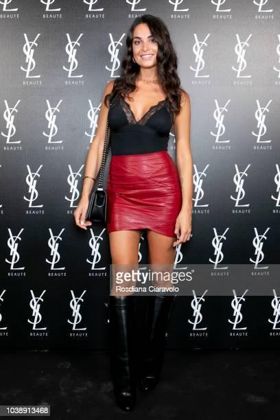 Vittoria Deganello attends Ysl Beauty Club Milan during Milan Fashion Week Spring/Summer 2019 on September 23 2018 in Milan Italy