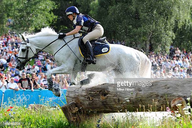 Vittoria Panizzon of Italy riding Borough Pennyz in the Individual Eventing Cross Country Equestrian on Day 3 of the London 2012 Olympic Games at...