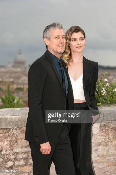 Vittoria Puccini and Fabrizio Lucci attend Globi D'Oro awards ceremony at the Academie de France Villa Medici on June 13 2018 in Rome Italy