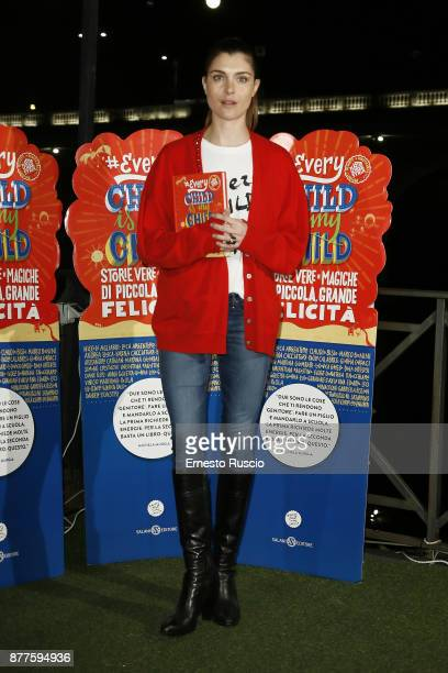 Vittoria Puccini attends #EVERYCHILDISMYCHILD book presentation on November 22 2017 in Rome Italy