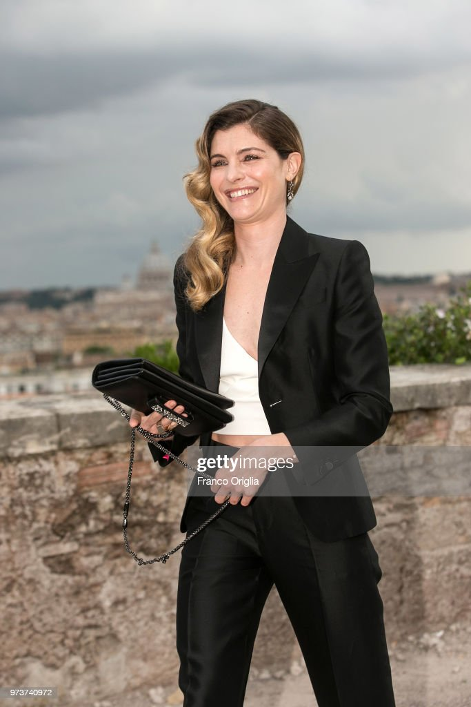 Vittoria Puccini attends Globi D'Oro awards ceremony at the Academie de France Villa Medici on June 13, 2018 in Rome, Italy.