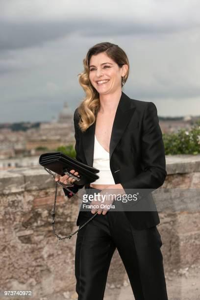 Vittoria Puccini attends Globi D'Oro awards ceremony at the Academie de France Villa Medici on June 13 2018 in Rome Italy