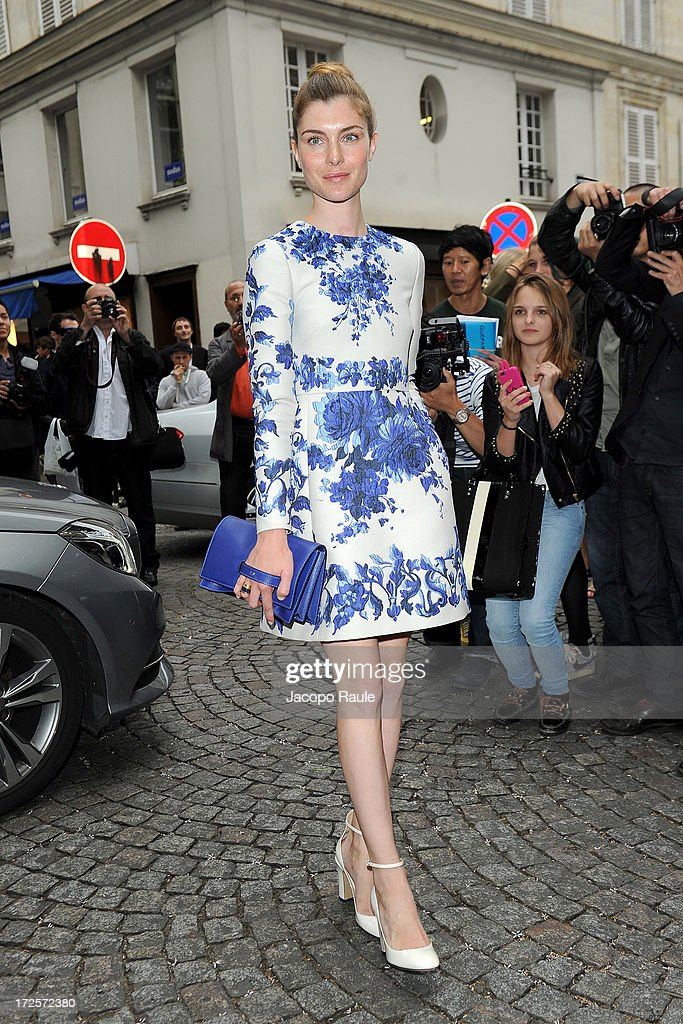 Vittoria Puccini attends the Valentino show as part of Paris Fashion Week Haute-Couture Fall/Winter 2013-2014 at Hotel Salomon de Rothschild on July 3, 2013 in Paris, France.