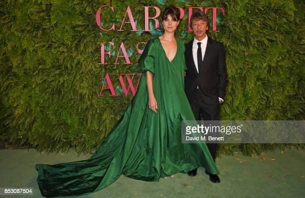 Vittoria Puccini wearing Valentino for the Green Carpet Challenge and Pierpaolo Piccoli attend the Green Carpet Fashion Awards Italia at Teatro Alla...