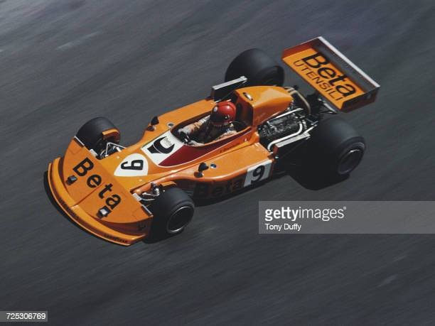 Vittorio Brambilla of Italy drives the Beta Team March March 761 Cosworth V8 during the Grand Prix of Monaco on 30 May 1976 on the streets of the...