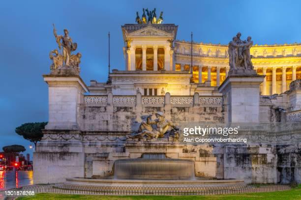 vittorio emanuele ii monument, altare della patria (altar of the fatherland), rome, lazio, italy, europe - alan copson stock pictures, royalty-free photos & images