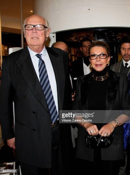 Vittorio Emanuele of Savoia and Marina Doria attend the launch of the book 'C'era una volta un principe' on November 19, 2009 in Milan, Italy.