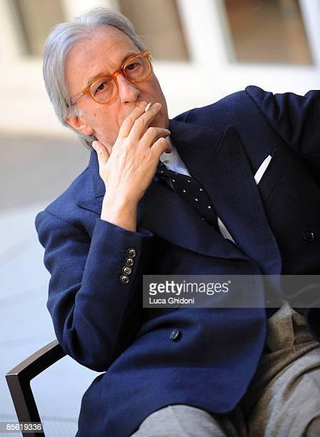 Vittorio Feltri attends the 2008 E' Giornalismo award on March 26 2009 in Milan Italy Attilio Bolzoni of 'la Repubblica' newspaper won this years...