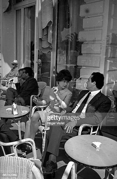 Vittorio Gassman and Juliette Mayniel, actors. Festival of Cannes, 1966. HA-1470-1.