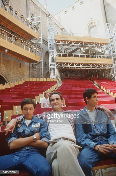 Vittorio Gassman with his sons
