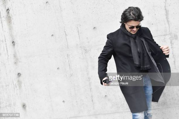 Vittorio Grigolo attends the Giorgio Armani show during Milan Fashion Week Fall/Winter 2018/19 on February 24 2018 in Milan Italy