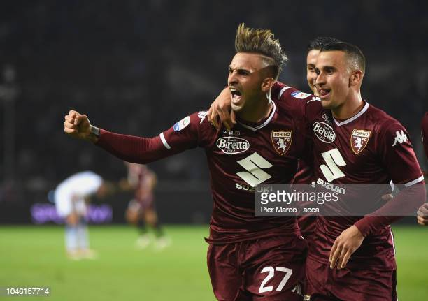 Vittorio Parigini of FC Torino celebrates goal during the Serie A match between Torino FC and Frosinone Calcio at Stadio Olimpico di Torino on...
