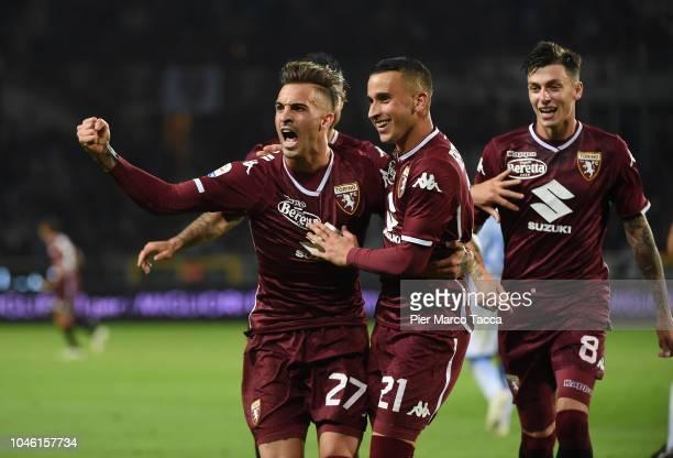 Vittorio Parigini of FC Torino celebrates goal during the Serie A match between Torino FC and Frosinone Calcio at Stadio Olimpico di Torino on...
