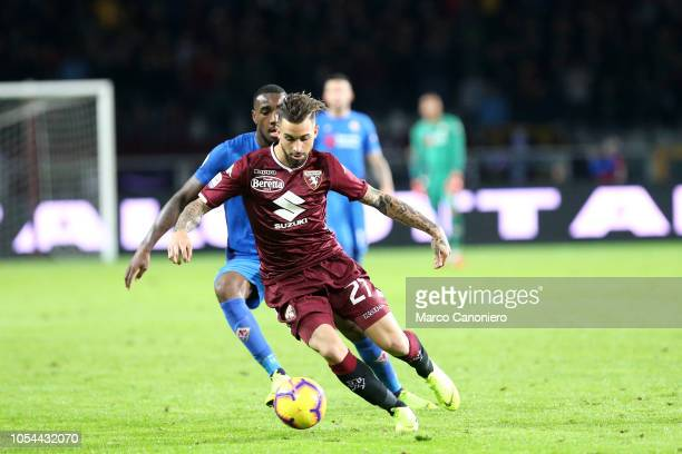 Vittorio Parigini of Torino FC in action during the Serie A football match between Torino Fc and Acf Fiorentina. The match end in a tie 1-1.