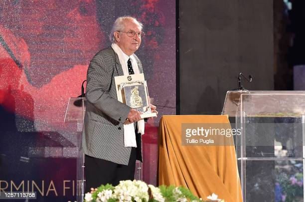 Vittorio Storaro attends the closing night of the Taormina Film Festival on July 19 2020 in Taormina Italy