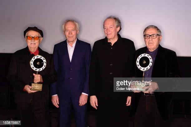 Vittorio Taviani JeanPierre Dardenne Luc Dardenne and Paolo Taviani pose together at the Ghent film festival where the Brothers Taviani received the...