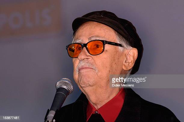 Vittorio Taviani visits the Ghent film festival to promote the film Ceasar Must Die The Brothers Taviani received the Joseph Plateau Honery Award on...