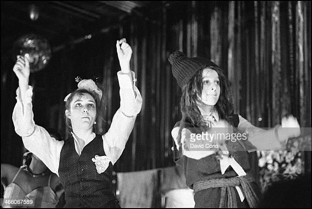 Viv Albertine and Ari Up of The Slits performing at Hammersmith Palais London UK on 30 November 1981